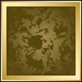 Marco del vector del oro en el fondo oscuro del grunge - ejemplo Fotografía de archivo libre de regalías