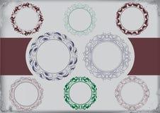Marco del vector y ornamento de la frontera Imágenes de archivo libres de regalías