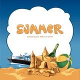 Marco del verano Imágenes de archivo libres de regalías