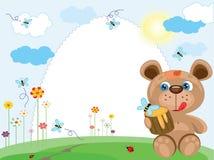 Marco del verano con el oso Imagen de archivo libre de regalías
