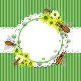 Marco del verano con las abejas y las flores ilustración del vector
