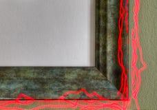 Marco del verdete en el fuego--Usted completa el cuadro Fotos de archivo libres de regalías