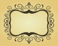 Marco del Victorian para el diseño Fotografía de archivo