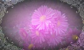 Marco del vintage con el fondo de la flor Fotos de archivo libres de regalías
