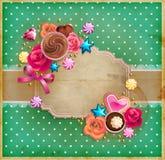 Marco del vintage del día del ` s de la tarjeta del día de San Valentín Fotografía de archivo libre de regalías