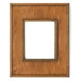 Marco del vintage, madera plateada imagenes de archivo