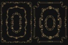 Marco del vintage para el diseño del día de fiesta Foto de archivo