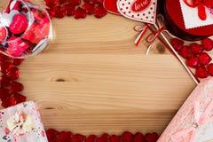 Marco del vintage para los mensajes del amor Imagen de archivo libre de regalías
