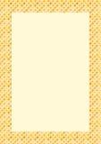 Marco delicado formado floral Stock de ilustración