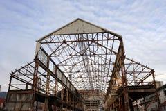 Marco destapado del hangar Fotos de archivo libres de regalías