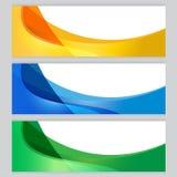 Marco determinado del árbol del fondo del vector anaranjado, azul, verde Imagen de archivo libre de regalías