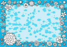 Marco divertido floral Fotografía de archivo libre de regalías
