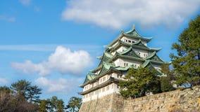 Marco do castelo de Nagoya na cidade de Nagoya, lapso de tempo de Japão filme