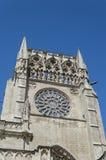 Marco do espanhol de Burgos Cathedral fotos de stock