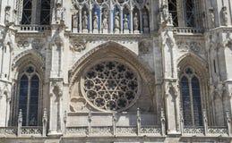 Marco do espanhol de Burgos Cathedral imagens de stock