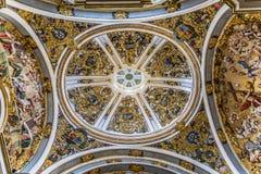 Marco do espanhol de Burgos Cathedral foto de stock