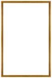 Marco dorado rectangular Imagen de archivo libre de regalías