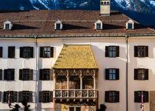Marco dourado do telhado em Innsbruck Áustria fotos de stock royalty free