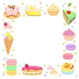 Marco dulce de los dulces Foto de archivo