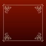Marco elegante del cuadrado del diseño Imagen de archivo