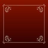 Marco elegante del cuadrado del ecru del diseño Imagenes de archivo