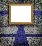 Marco elegante del estilo finlandés del indicador en la pared Foto de archivo libre de regalías