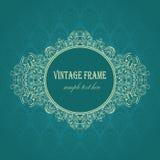 Marco elegante en un fondo azul Fotos de archivo libres de regalías