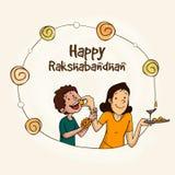 Marco elegante para la celebración de Raksha Bandhan Imagenes de archivo