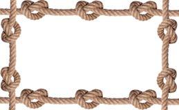 Marco embaldosado de la cuerda del nudo Imagenes de archivo