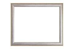 Marco en blanco de la plata y del oro Fotografía de archivo