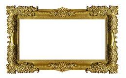 Marco en blanco de oro de la foto fotos de archivo libres de regalías