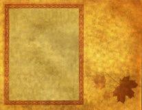 Marco en blanco en el papel del oro Fotografía de archivo