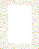 Marco en colores pastel de los corazones del caramelo Fotografía de archivo libre de regalías