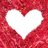 Marco en forma de corazón en blanco compuesto Imagenes de archivo
