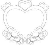 Marco en forma de corazón para la tarjeta del día de San Valentín stock de ilustración