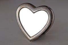 Marco en forma de corazón vacío de la foto Imagen de archivo