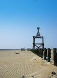 Marco en la playa Imagen de archivo