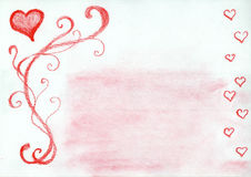 Marco encantador de los corazones libre illustration