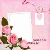 Marco encantador para el día de tarjeta del día de San Valentín Imagen de archivo