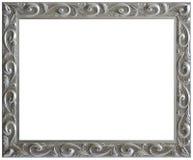 Marco envejecido plata de la vendimia Fotografía de archivo libre de regalías
