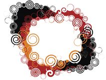 Marco espiral Imagen de archivo