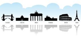 Marco europeu ilustração do vetor