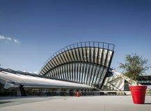 Marco famoso da estação de trem do tgv do aeroporto de lyon exterior no fra Imagem de Stock Royalty Free