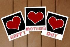 Marco feliz del día de madres con concepto del corazón Fotografía de archivo libre de regalías