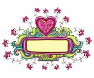 Marco feliz del día de tarjeta del día de San Valentín ilustración del vector