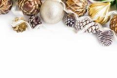 Marco festivo de los globos de la Navidad Fotos de archivo libres de regalías