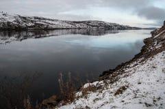 Marco finlandés, al norte de Noruega Fotografía de archivo