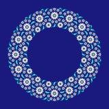 Marco floral árabe tradicional ilustración del vector