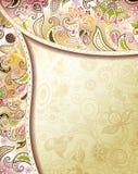 Marco floral abstracto Fotografía de archivo libre de regalías
