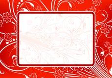 Marco floral abstracto de Grunge Imágenes de archivo libres de regalías